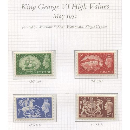 1662 - 1840-1970 COLLECTION of M & U in three SG Oriel albums, highlights incl. 1840 1d black (fine four ma...