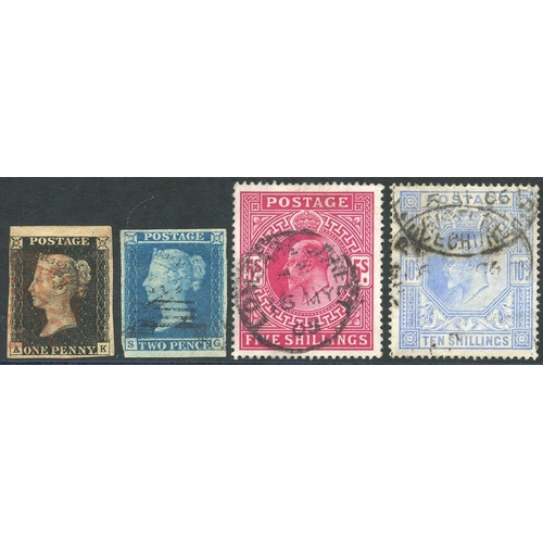 1666 - 1840-1990 COLLECTION of M & U housed in a Windsor album incl. 1840 1d black (four margins), QV vals ...