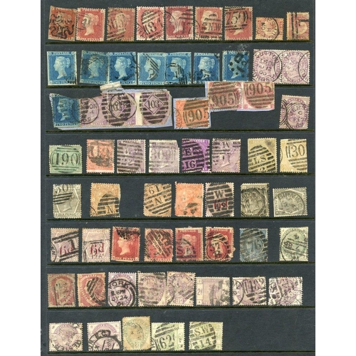 1677 - QV-KGVI U ranges on hagner leaves incl. 1841 2d (7), a few Surface Printed vals to 1883 5s, duplicat...