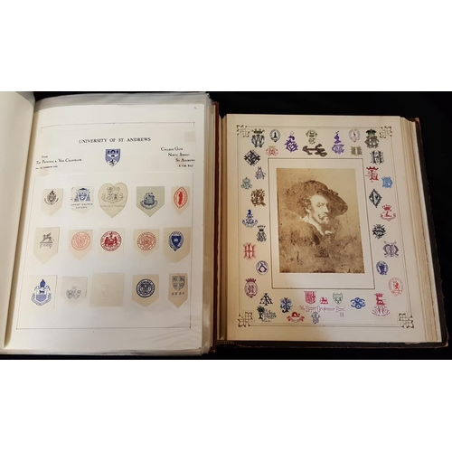 1687 - HERALDIC & OTHER MONOGRAMS collection housed on leaves in a Viking album, others in an early monogra...