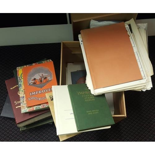 169 - WORLD ACCUMULATION in carton incl. a decent New Zealand modern VFU collection in a Davo album, Germa...