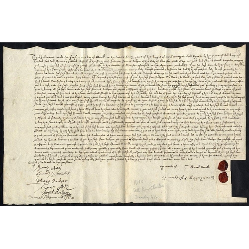 1696 - 1648 (Dec 1) Indenture concerning a house and land, agreed between Samuel Bridger of Gloucester, gen...