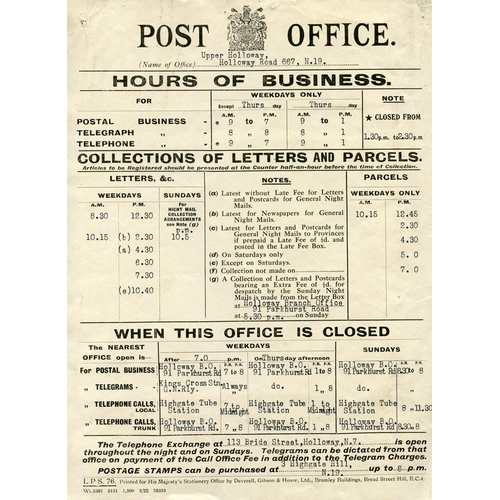 1697 - 1685-1922 Post Office or postal related letters or ephemera incl. Returned Letter wrappers (3, one w...
