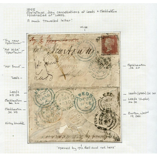 1698 - CHRISTMAS DAY CANCELS 1841-98 covers (19) all bearing 25th Dec cancels, plus two early French Christ...