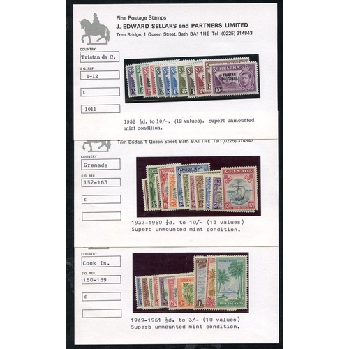 170 - BRITISH COMMONWEALTH KGVI UM complete sets comprising Cook Islands 1949 set, Grenada 1937 set & Tris...