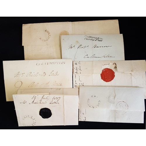 1710 - DEVON QV-QEII postal history accumulation, noted useful Cullompton incl. 1820's circular mileage mar...