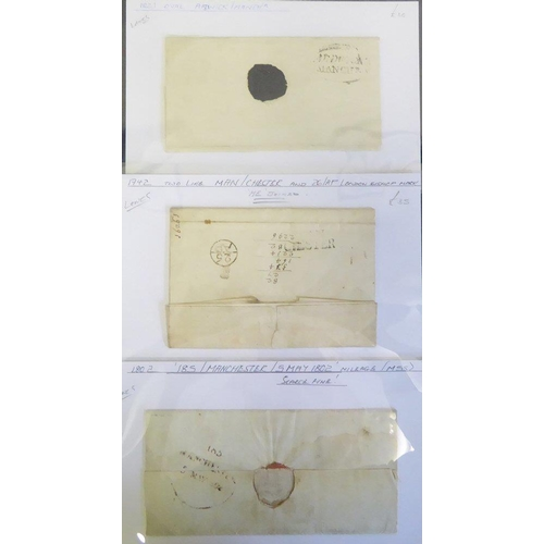1711 - LANCASHIRE - 1742-1821 three pre stamp covers - 1742 EL to The Earl of London bears two line MAN/CHE...