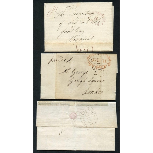 1712 - LONDON 1794-95 entire letters (4) and a piece all posted into the London Penny Post, the entire lett...
