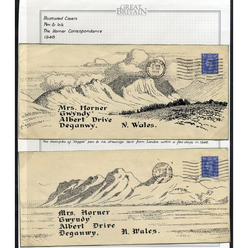 1733 - 1948 The Horner Correspondence - two covers, both addressed to Mrs Horner in Deganwy, North Wales, f...