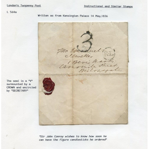 1735 - 1803-90 entire letters and covers incl. 1803 part letter to 'Mrs Arthurs at Her Royal Highness the P...