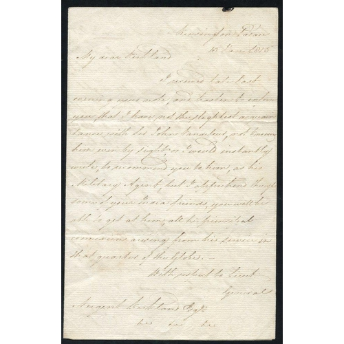 1736 - 1815 letter from Kensington Palace, signed Edward - Duke of Kent (1767-1820) father of Queen Victori...