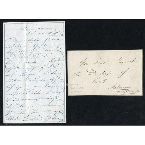 1737 - 1854 letter written & signed Victoria Duchess of Kent - Queen Victoria's mother written from Frogmor...