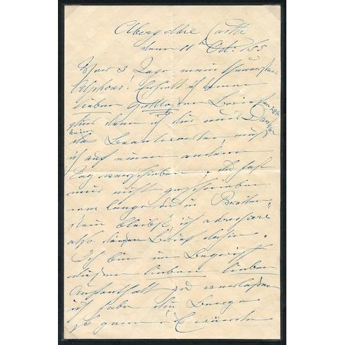 1738 - 1855 letter written & signed Victoria (Duchess of Kent - QV mother) to her cousin Count Alphonse de ...