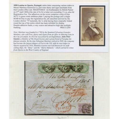 1747 - PORTUGAL 1858 entire letter concerning various orders to Messrs Martinez Gassiot & Co, port, wine, s...