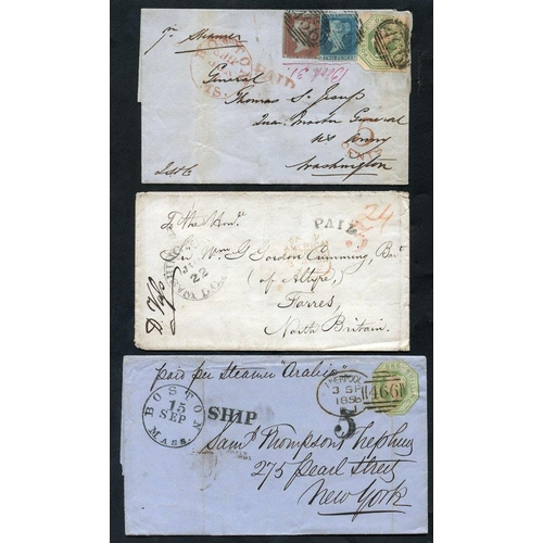 1749 - TRANSATLANTIC - 1797-1862 entire letters, covers, part cover & a piece all sent between GB & the USA...