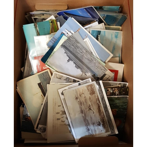1754 - SHIPPING EPHEMERA quantity of PPC's, menus, photographs, cabin labels, passenger lists, Cunard Commu...