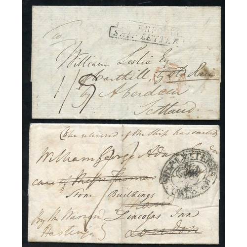 1756 - 1801-53 Ship or Packet letters incl. 1814 entire letters written by the C.O of the 47th reg from Cam...