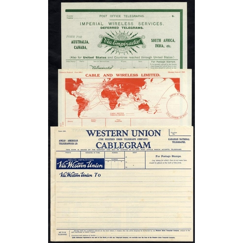 1774 - Telegrams - selection of 24 mainly used plus 5 brochures. Post Office & various companies, Western U...