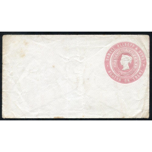 1776 - Advertising Rings QV 1d pink Samuel Allsopp & Sons, Burton on Trent unused envelope Die dated 5.8.63...
