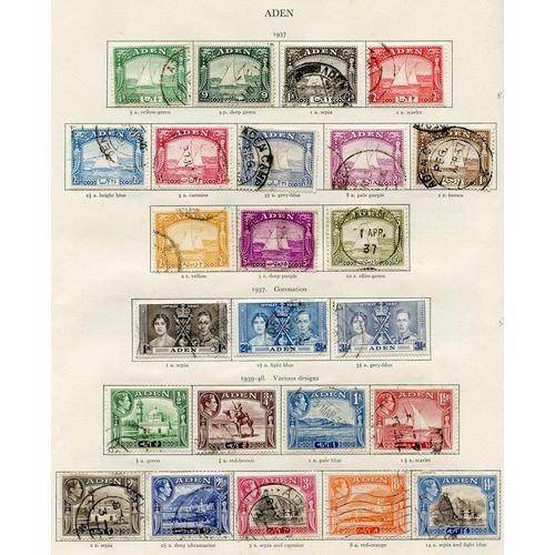 181 - ADEN 1937-51 (47) & SEIYUN (27) & HADHRAMAUT (27) complete good to VFU. Cat. £1319...