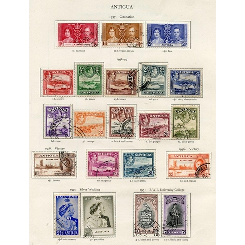 182 - ANTIGUA (25) & ASCENSION (27) 1937-51 complete. Cat. £350....