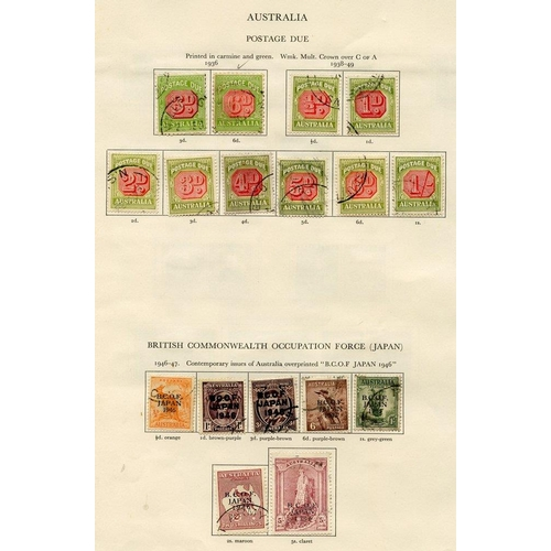 183 - AUSTRALIA 1936-51 complete except for SG.212 incl. B.C.O.F set, main value in postage dues incl. D10...