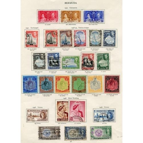 187 - BARBADOS 1937-51 complete (55), BERMUDA 1937-49 complete (31) Cat. £479...