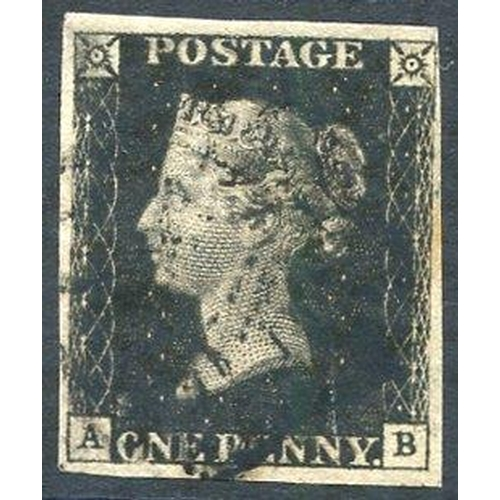 1900 - Plate 10 AB, good to large margins cancelled black MC....