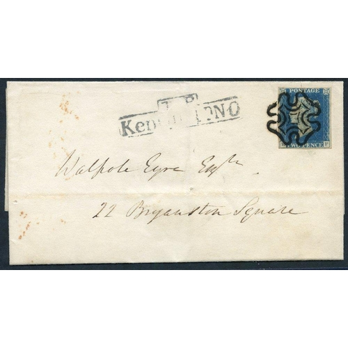 1913 - 1840 Nov 10th cover used locally in London, franked Pl.1 EF, good to large margins, tied by a boldly...