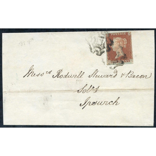 1931 - 1843 wrapper from Norwich to Ipswich, franked PL.19 GC, clear to large margins, tied by two strikes ...