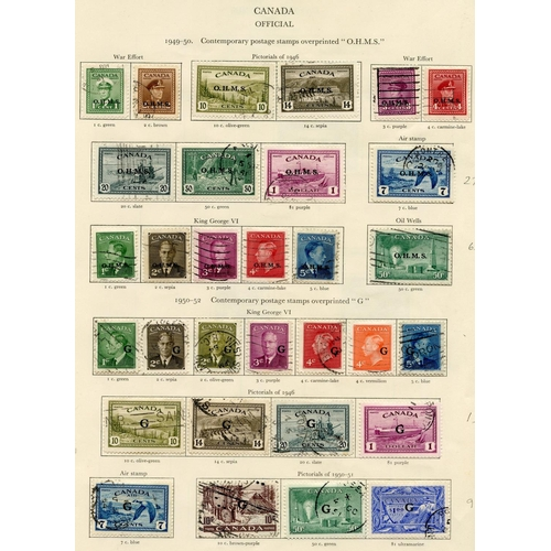 195 - CANADA 1937-51 complete incl. Officials, some faults or Av examples. (125) Cat. £885...