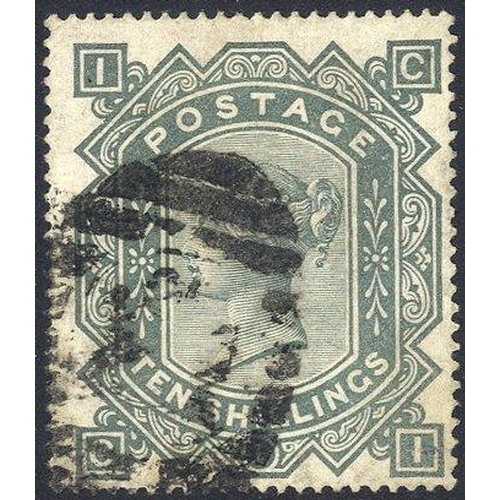 1962 - 1867 Wmk Maltese Cross 10s greenish grey, good to FU, SG.128....