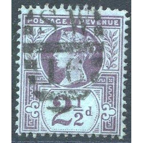 1974 - 1887 2½d purple/blue WMK INVERTED, FU, SG.201wi. Scarce. (1) Cat. £1400...