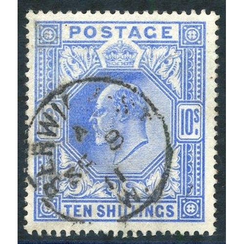 1978 - 1902 10s ultramarine, VFU with Berwick c.d.s. for Sep 8th 1911, SG.265....