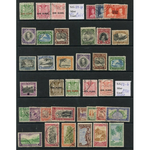 199 - COOK ISLANDS 1937-49 complete incl. scarce Arms. (37) Cat. £1260...
