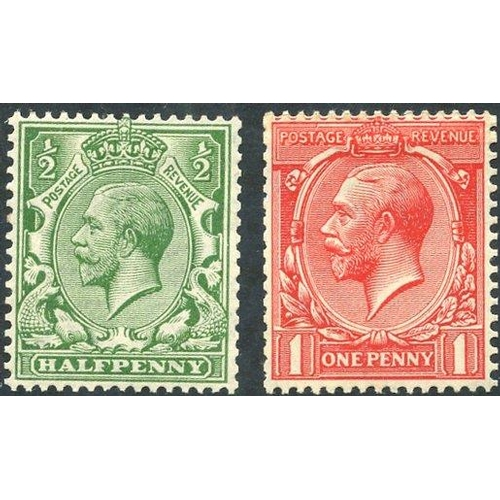 1990 - 1913 Royal Cypher Multiple set, fine M (1d coil join), SG.397/8. (2)...