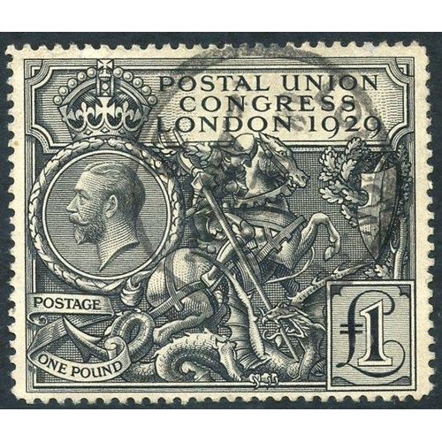 2002 - 1929 £1 PUC, FU with London c.d.s, SG.438....