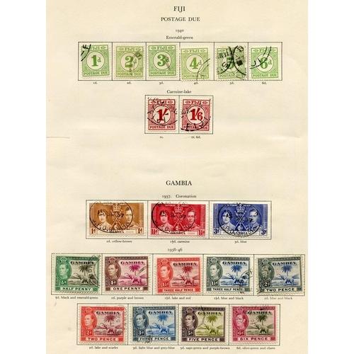202 - FIJI (41) & GAMBIA (27) 1937-51 complete. Cat. £874...