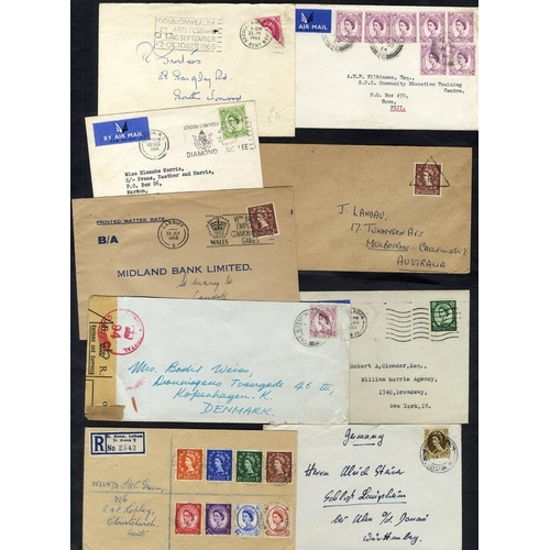 2020 - 1950's-60's Wilding covers with a good selection of single & mixed frankings, airmail, recorded deli...