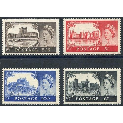 2022 - 1955 Waterlow Castle set UM, SG.536/9. (4)...