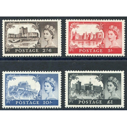 2023 - 1959 2nd DLR Castle set UM, SG.595/8. (4)...