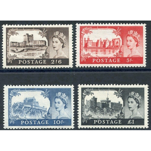 2024 - 1959 2nd DLR Castle set UM, SG.595/8. (4)...
