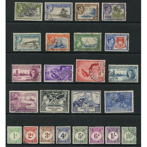 203 - GIBRALTAR (29) & GILBERT & ELLICE ISLANDS (31) 1937-50 - both complete. Cat. £608...