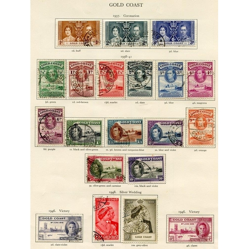 204 - GOLD COAST (36) & GRENADA (42) 1937-51 complete. Cat. £256...