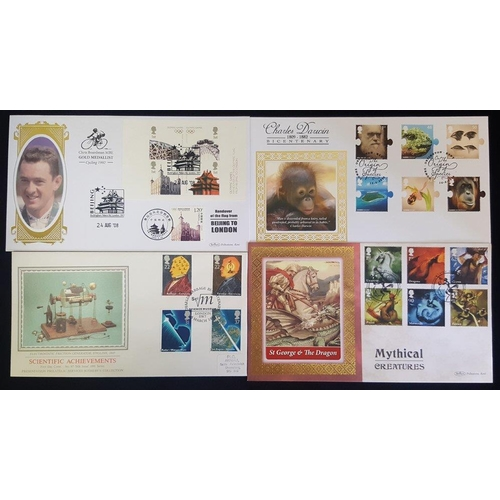 2040 - 1986-2009 SILK FDC STOCK comprising mainly Sotheby collection or Benham with 251 large covers incl. ...