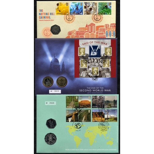 2042 - COIN COVERS 1995-2009 collection housed in four albums comprising Royal Mail/Royal Mint. Face of coi...