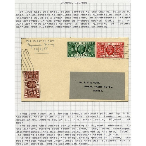 2049 - JERSEY 1935 June 28th WHOOPEE SPORTS experimental flight by Jersey Airways cover from Plymouth - Jer...