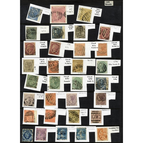 2051 - SELECTION of 140+ items on hagner pages, mainly QV Surface Printed vals to 5s cancels incl. several ...