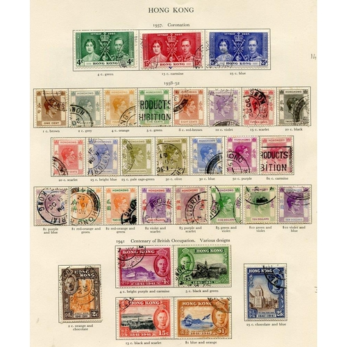 207 - HONG KONG 1937-49 complete. (48) Cat. £524...