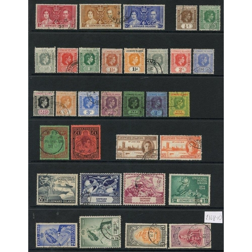 212 - K.U.T (37) & LEEWARD ISLANDS (32) 1937-51 - both complete. Cat. £305...
